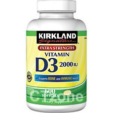 600 Kirkland Vitamin D3 2000 IU D Bone Colon Immune Breast Health 600 Softgels