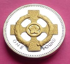2008 ROYAL MINT SILVER PROOF  CELTIC CROSS  £1 ONE POUND PROOF COIN  + COA