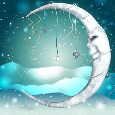 "perfect 30x30 oil painting handpainted on canvas ""Fantasy Art Winter Moon""@N3887"