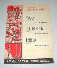 Spartiti IL LISCIO PER ORCHESTRA Avana Referendum Fisarmonica Carlone Piazza