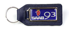 Saab 93 Quality BLUE Leather Keyring