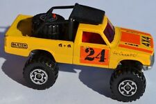 Matchbox Lesney Superfast No 63 4X4 OPEN BACK TRUCK Toyota - Silver Painted Base