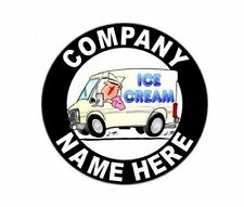 """2 - 12"""" Personalized Ice Cream Truck or Parlor Decals with Your Company Name"""