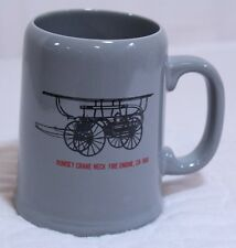 Hall of Flame Phoenix Fire Museum Coffee Cup Stein Rumsey Crane Neck Fire Engine