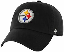 Pittsburgh Steelers 47 Brand Clean Up MVP Adjustable On Field Cotton Hat Cap NFL
