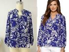 2014 NEW Lilly Pulitzer Elsa Tide Pools Silk Blouse Top BLUE XS S M L XL 5sizes