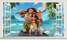 Disney Moana Maui Heihei 3D Window Wall Decals Stickers Kids Nursery Decor Gift