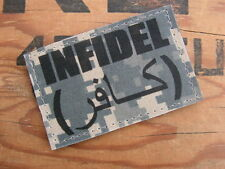 Patch Velcro - INFIDEL digital ACU - US ARMY afghanistan OPEX AIRSOFT BILLES 6mm