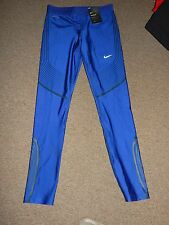 NIKE WOMEN'S SZ M POWER SPEED DRI-FIT RUNNING TIGHTS 719784 457 BLACK LINES