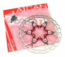 Aican Superlight Floating 2 piece Disc brake rotor 75g 160mm Red vs Hope