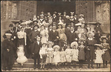 LANDIVISIAU (29) - Très belle carte photo de mariage à la sortie de l'Eglise