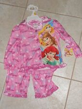 NWT - Disney Princess 2pc pink, silver & white button down pajamas - 2T girls