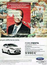 Publicité advertising 2012 Ford Fiesta .... Francois Hollande