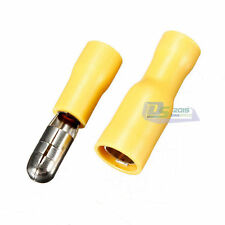 40X Pro 12-10awg Yellow Male Female Insulated Bullet Crimp Terminal Connection