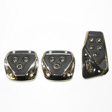 Black Chrome Car Foot Pedal Covers Pads Non Slip For Volkswagen Golf Mk1 Mk2 Mk3