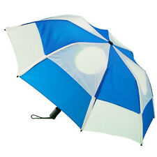 GustBuster Metro Auto Vented Folding Umbrella - Royal Blue and White