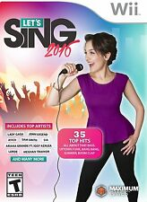 NEW SEALED Let's Sing 2016 with USB Microphone Bundle for Nintendo Wii WiiU
