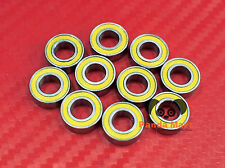 10pcs MR105-2RS (5x10x4 mm) Yellow Rubber Sealed Ball Bearing Bearings 5*10*4