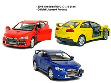 set of 3 x1:36 Scale 2008 Mitsubishi Lancer Evo Evolution X diecast CAR model 5""