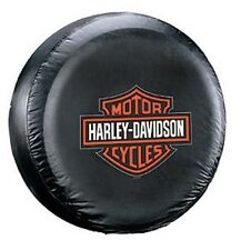 "Universal Black Harley Davidson Spare Tire Cover Wheel 27"" - 31"" New Free Ship"