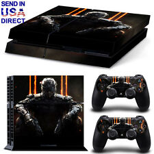 Game Decal Cover Skin Sticker For PS4 PlayStation Console + 2 Controller