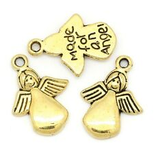 Gold Angel Charms Made For An Angel Awareness Jewelry Holiday 5/8 inch Lot of 20