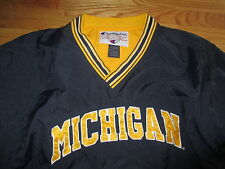 Vintage Champion MICHIGAN WOLVERINES V-Neck (LG) Jacket