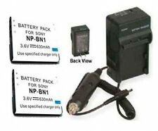 2X Batteries + Charger for Sony DSC-W550 DSC-W550B DSC-WX30L DSC-WX30S DSC-WX100