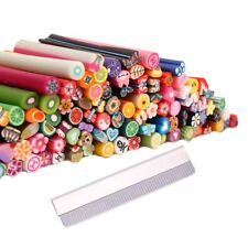 100Pcs 3D Design Nail Art Fimo Canes Sticks Rods Gel Tips Manicure Decoration L6
