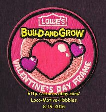LMH PATCH Badge VALENTINE'S DAY FRAME Heart Kids LOWES Build Grow Project Series