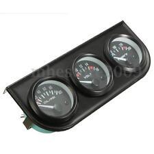 52mm Voiture LED Jauge Tension + Pression Huile +Eau Temp Gauge + 3Trous Support