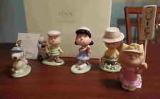 Lenox Schulz Charlie Brown Peanuts Golf 5 piece set figurines NIB Snoopy Lucy