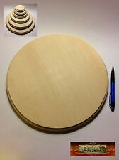 "M00976 MOREZMORE 1 Unfinished 12"" Round Wood Base Wooden Plaque Stand A60"