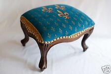 Antique Medieval Louis XV Style Hand Carved French Footstool/ Ottoman - Louis