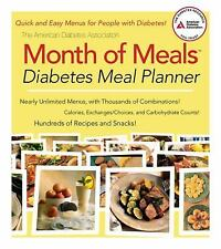 The AMERICAN DIABETES ASSOCIATION Month of Meals Planner ADA Free Shipping NEW!