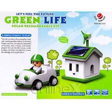 Conjunto Casa y Coche Recargable Solar Ecológico Ideal Niños y Mayores a1511
