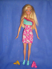 Pretty Blonde Barbie Doll ~ Pretty Dress & 3 Pairs of Shoes~Will Combine Postage