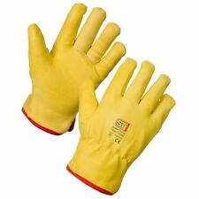 FLEECE LINED LEATHER LORRY DRIVERS WORK GLOVES HAND PROTECTION x 1 pair  MED