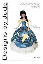 Southern Belle Doll Clothes Sewing Pattern for Deja Vu dolls Tonner