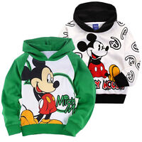 3-8 Cute Mickey Mouse Kids Boys Girls Hoodies Coat Top Sweater Outerwear Jumper