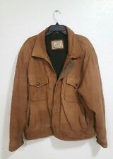 Vintage Levi's 70s Genuine Leather Soft Suede Bomber Jacket Size XL