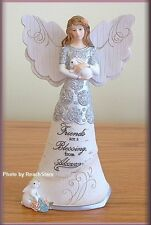 FRIENDS ARE A BLESSING 6 INCH ANGEL FIGURINE BY PAVILION ELEMENTS FREE U.S. SHIP