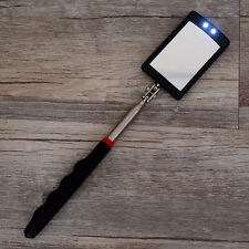 Lighted Inspection Mirror Telescoping Illuminate LED Swivel Light Extends Tool