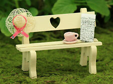 Garden Bench ~ Sweatheart Bench ~ Miniature ~ Fairy Garden ~ Wooden ~ Handmade