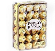 FERRERO ROCHER FINE HAZELNUT CHOCOLATE CANDY 48 INDIVIDUALLY GOLD WRAPPED BOX