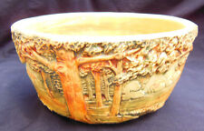 Antique Weller Pottery Forest Bowl Nice Mold and Colors