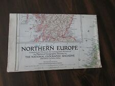 Northern Europe National Geographic Large Map August 1954