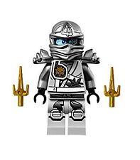 LEGO® Ninjago™ Silver Zane Titanium with 2 Gold Sai - 70748