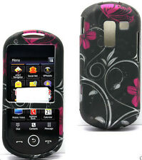 Bu Swirl Straight Talk Samsung SCH-R455C Slider Phone Cover Case