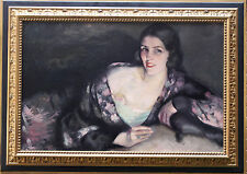 CYPRIEN EUGENE BOULET 1877-1927 FRENCH IMPRESIONIST PORTRAIT FEMALE OIL PAINTING